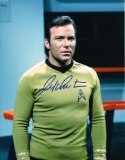 WILLIAM SHATNER  signed 11x14 STAR TREK CAPTAIN KIRK photo COA