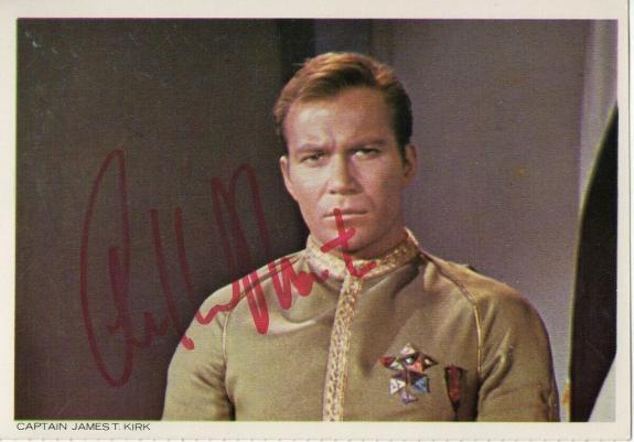 William Shatner Signed Autographed Postcard Star Trek Captain Kirk JSA JJ41594