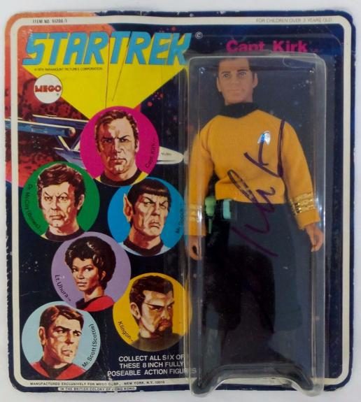 William Shatner Signed Autographed Rare Captain Kirk Action Figure JSA Authentic