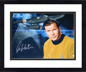 WILLIAM SHATNER SIGNED AUTOGRAPHED STAR TREK CAPTAIN KIRK 16x20 PHOTO JSA