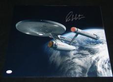 WILLIAM SHATNER SIGNED AUTOGRAPHED STAR TREK ENTERPRISE NCC-1701 16x20 PHOTO JSA