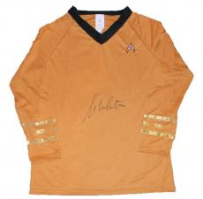William Shatner Signed Captain Kirk Star Trek Shirt Uniform Jsa Rubie's Costume