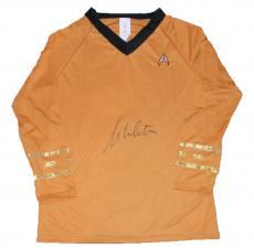 William Shatner Signed Captain Kirk Star Trek Shirt Uniform Jsa Rubie's Costume