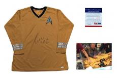 William Shatner SIGNED Captain Kirk Uniform - PSA/DNA - Autographed w/ Photo