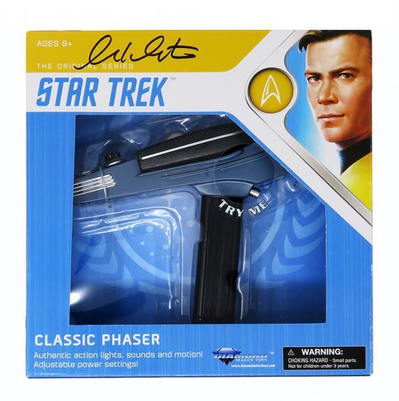 William Shatner Signed Diamond Select Star Trek Classic Electronic Phaser