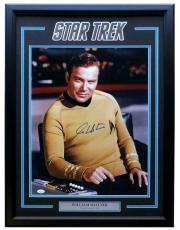 William Shatner Signed Framed Star Trek 16x20 Captain Kirk Photo JSA