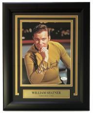 William Shatner Signed Framed Star Trek 8x10 Captain Kirk Photo JSA