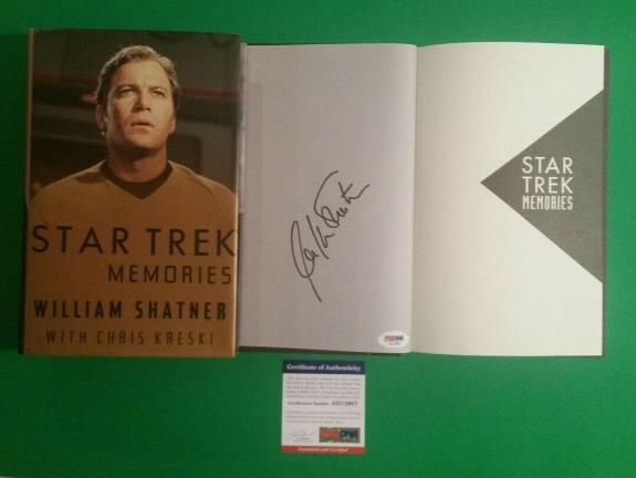 William Shatner Signed Hardcover Book Star Trek Memories Psa/dna Coa Authentic