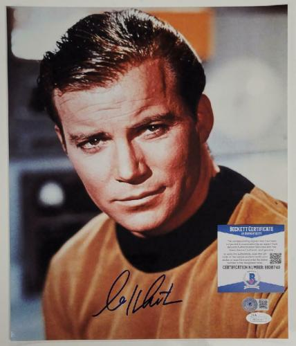William Shatner signed Star Trek 11x14 Photo Cpt. Kirk Autograph (C) ~ BAS COA