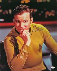 William Shatner Signed Star Trek 16x20 Captain Kirk Photo JSA