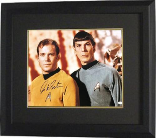 William Shatner signed Star Trek 16x20 Photo Custom Framed (with Nimoy)- JSA Hologram (Captain Kirk) (movie/tv/entertainment)