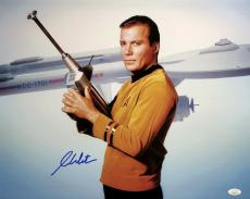 William Shatner Signed Star Trek 16x20 Starship USS Enterprise Photo JSA