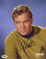 William Shatner Signed 'star Trek' Capt Kirk 8x10 Photo Autograph Psa/dna Coa