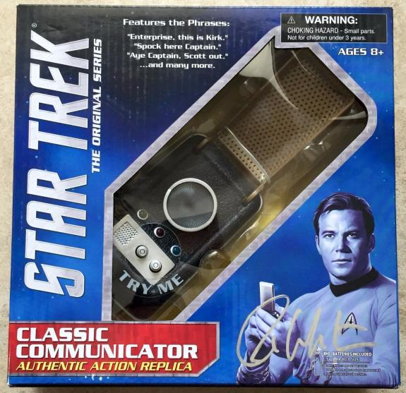 William Shatner Signed Star Trek Captain Kirk Classic Communicator PSA/DNA COA