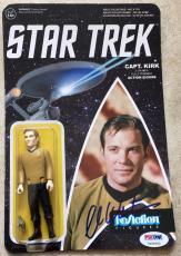 William Shatner Signed Star Trek Captain Kirk Funko Reaction Figure PSA/DNA (B)