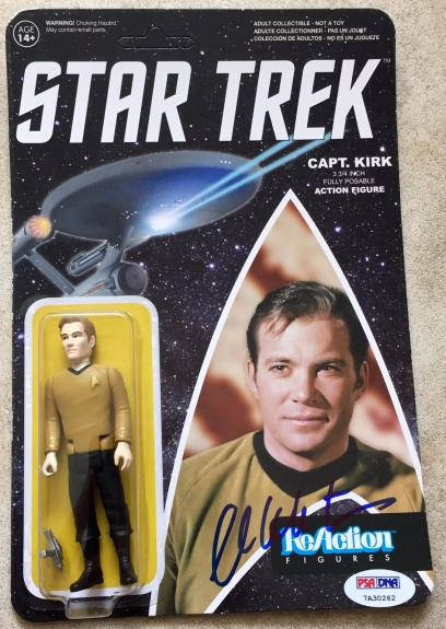 William Shatner Signed Star Trek Captain Kirk Funko Reaction Figure PSA/DNA (B)