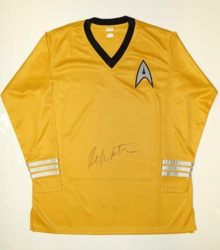 William Shatner Signed Star Trek Captain Kirk Gold Shirt- JSA Witnessed Auth