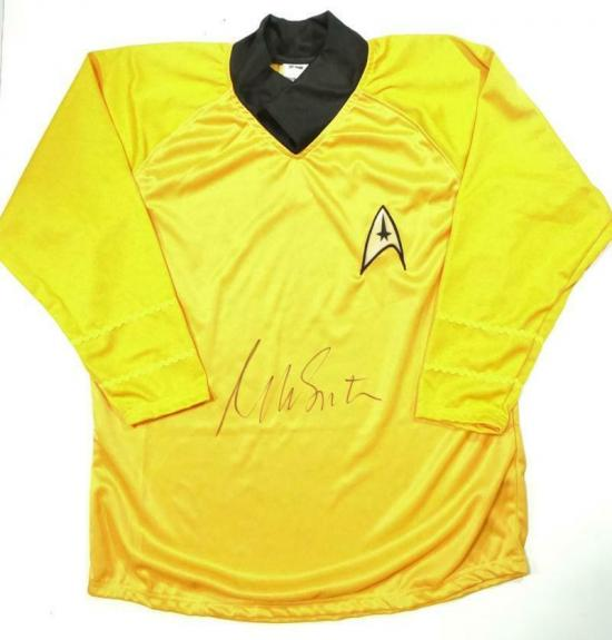 William Shatner Signed Star Trek Captain Kirk Long Sleeve Yellow Shirt- JSA W