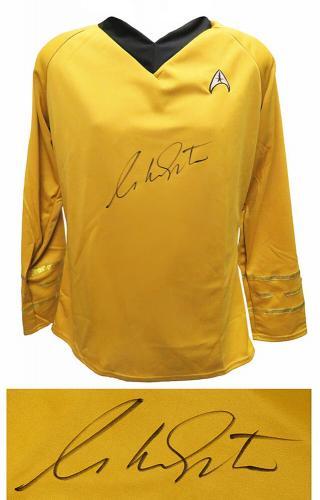 William Shatner Signed Star Trek Captain Kirk Uniform Costume Shirt