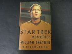 William Shatner Signed Star Trek Memories Book Autograph Auto PSA/DNA AD13907