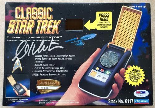 William Shatner Signed Star Trek Playmates Classic Communicator PSA/DNA COA (B)