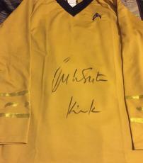 William Shatner Signed Star Trek Shirt W/ Kirk Inscribed Bas Beckett Authentic 2