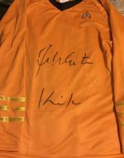 William Shatner Signed Star Trek Shirt W/ Kirk Inscribed Bas Beckett Authentic