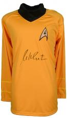 William Shatner signed Star Trek Yellow Uniform Shirt- JSA Hologram (Captain Kirk) (movie/tv/entertainment)