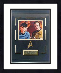 William Shatner Star Trek Signed 8x10 with Deluxe Frame