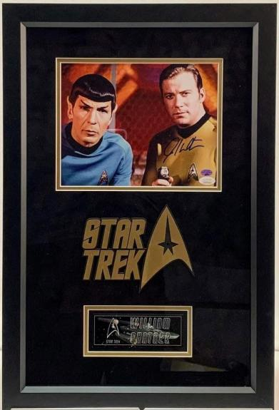 William Shatner Star Trek 8x10 Signed & Framed Photo