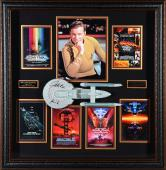 "William Shatner Star Trek Framed Autographed 39"" x 38"" x 4"" USS Enterprise Shadowbox with Kirk Inscription"