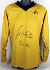 "William Shatner Star Trek ""Kirk"" Signed Uniform Shirt BAS #B91379"