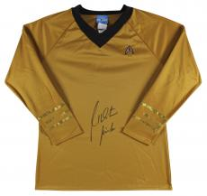 "William Shatner Star Trek ""Kirk"" Signed Uniform Shirt BAS Witnessed"