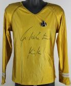 "William Shatner Star Trek ""Kirk"" Signed Uniform Shirt BAS Witnessed #I27231"