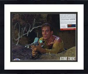 William Shatner Star Trek Signed Autographed Color 8x10 Photo Psa Dna Aa33700