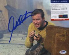 William Shatner Star Trek Signed Autographed Color 8x10 Photo Psa Dna Aa33712