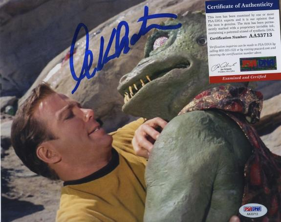 William Shatner Star Trek Signed Autographed Color 8x10 Photo Psa Dna Aa33713