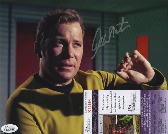 William Shatner Star Trek Signed Autographed Jsa Coa Color Photo Captain Kirk