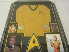 William Shatner Star Trek signed framed matted shirt jersey JSA Witness CAS COA