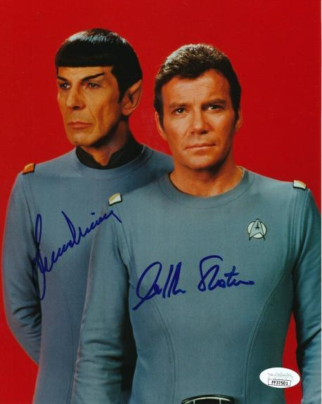 William Shatner/Leonard Nimoy Star Trek Dual-Signed 8x10 Photo JSA 147249