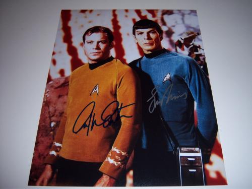 Leonard Nimoy,william Shatner Star Trek W/coa Signed 11x14 Photo