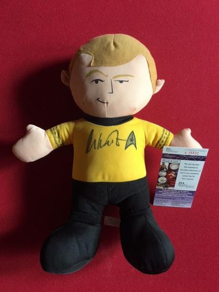 "William Shatner,""Star Trek"" Autographed (JSA) Capt. Kirk Doll, 12"" Tall"