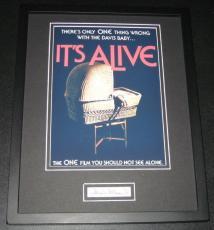 William Wellman Jr Signed Framed 11x14 Photo Display It's Alive