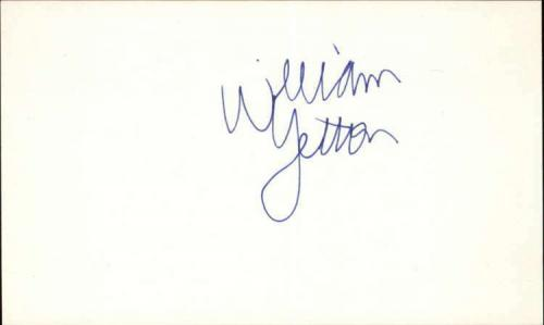 """WILLIAM YELTON STRANGER THINGS Signed 3""""x5"""" Index Card"""