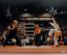 William Zabka Ralph Macchio Autographed 16x20 Karate Kid Photo- PSA/DNA Auth