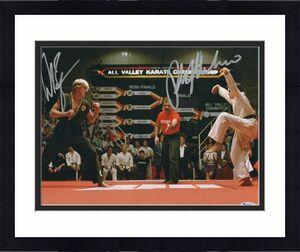 William Zabka Ralph Macchio Signed Auto The Karate Kid 11x14 Metallic Beckett 5
