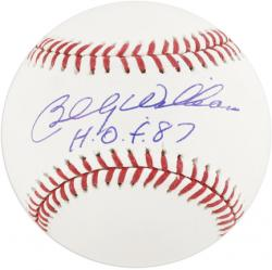 "Billy Williams Autographed Baseball with ""HOF 87"" Inscription - Mounted Memories"