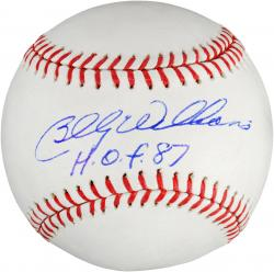 Billy Williams Autographed Baseball with HOF 87 Inscription