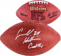 Carnell Williams Tampa Bay Buccaneers Autographed NFL Game Football with Cadillac Inscription