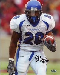 Fanatics Authentic Autographed Deangelo Williams Memphis Tigers 8'' x 10'' White Jersey Photograph